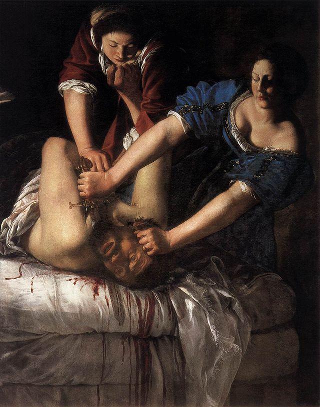 1. Judit decapitando a Holofernes, Artemisia Gentileschi (Nápoles)