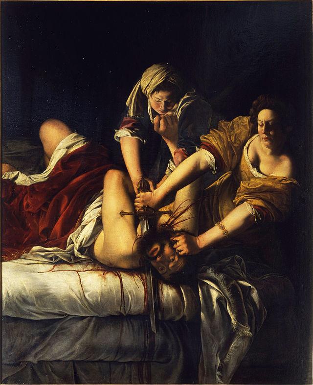 2. Judit decapitando a Holofernes, Artemisia Gentileschi (Florencia)