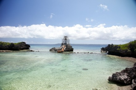 Mariko Mori Tida Dome in construction Miyako Island Okinawa Japan